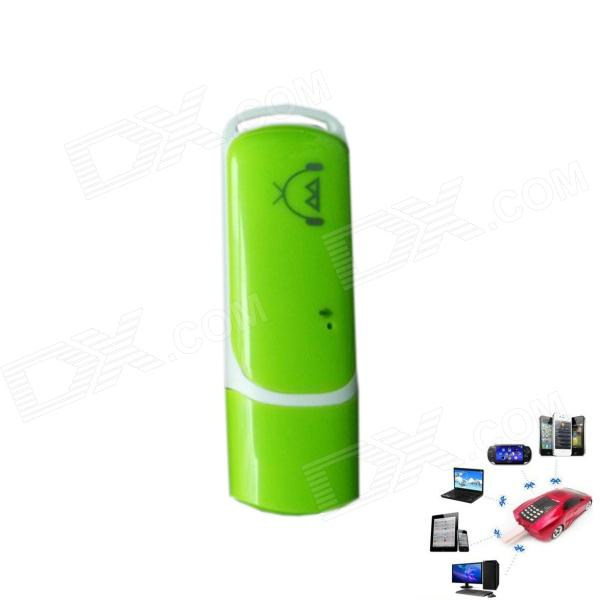 USB2.0 Bluetooth Wireless Music Audio Receiver for Car Computer / Speaker - Green