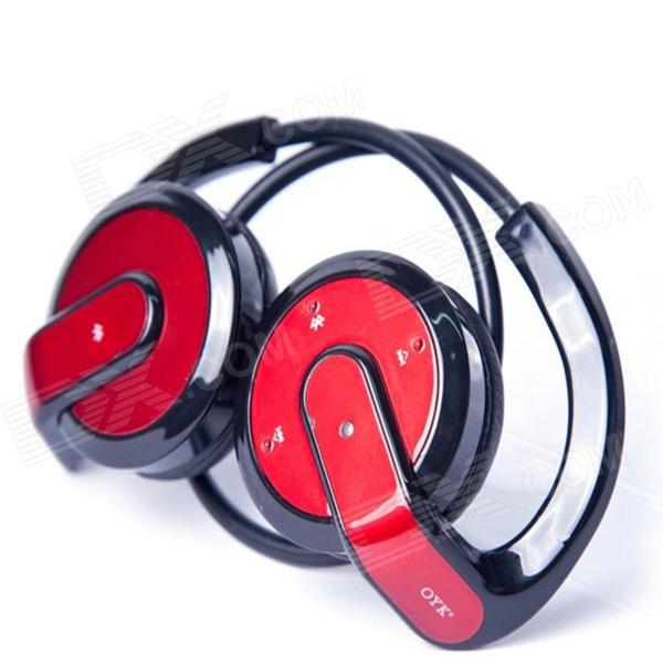 OYK OK-100 Wireless Bluetooth V2.1 Earhook Sports Headphones for IPHONE / IPAD - Black + Red texet tm 513r