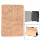 Stylish Protective PU Leather + Plastic Case w/ Auto Sleep for IPAD AIR - Golden