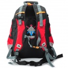 JSZ 01 Outdoor Mountaineering Nylon + Polyester Backpack w/ Rainproof Cover - Red + Black (20L)