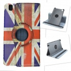 UK National Flag Style 360 Degree Rotation PU Leather Case for Samsung Galaxy Tab Pro T320 - Blue