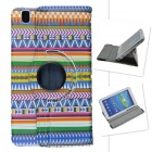 Tribal Lines Rotation PU Leather Case Stand for Samsung Galaxy Tab Pro T320 8.4 - Multicolored