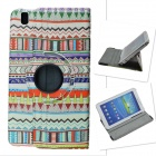 Tribal Lines 360' Rotation PU Leather Case Stand for Samsung Galaxy Tab Pro T320 8.4 - Multicolored