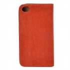 Squirrel Grain Style Protective PU Leather + Plastic Case for IPHONE 4 / 4S - Dark Pink