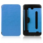 ENKAY ENK-7041 PU Leather Case w/ Hand Strap Holder for Samsung P3200 / T210 / T211 - Light Blue