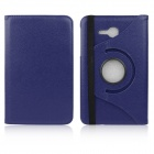 ENKAY 360 Degree Rotation Protective Case w/ Stand for Samsung Galaxy Tab 3 Lite T110 - Dark Blue