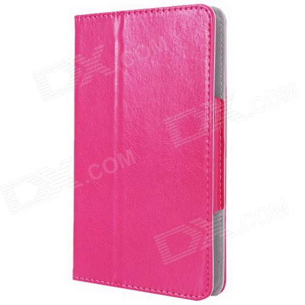 Photo Frame Style Protective PU Leather Case Cover Stand for 7 Tablet PC - Deep Pink protective pu leather case for 9 7 tablet pc deep pink