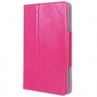"Photo Frame Style Protective PU Leather Case Cover Stand for 7"" Tablet PC - Deep Pink"