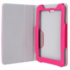 "Photo Frame Style protection PU cuir Housse Etui Stand pour 7 ""Tablet PC - rose foncé"