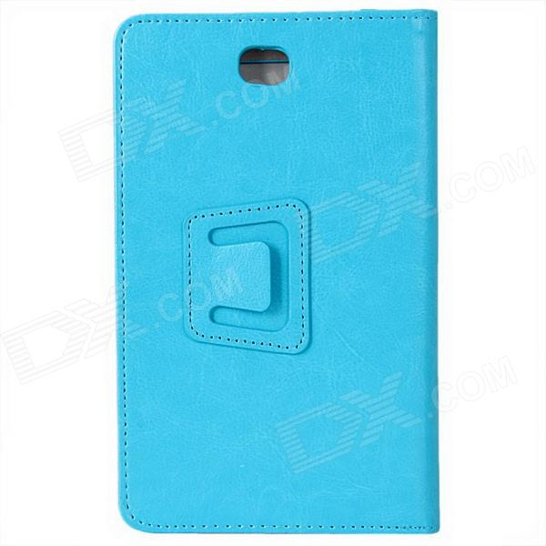 "Photo Frame Style Protective PU Leather Case Cover Stand for 7"" Tablet PC - Blue"