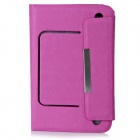 "PU Leather Case Stand w/ Silicone Suction Cup Holder / Magnetic Closure for 7"" Tablet PC"