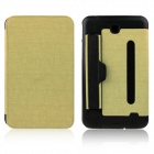ENKAY Protective PU Leather Case w/ Belt for Samsung Galaxy Tab 3 7.0 T210 / T211 / P3200 - Golden