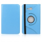 ENKAY 360 Degree Rotation Protective Case w/ Stand for Samsung Galaxy Tab 3 Lite T110 - Light Blue