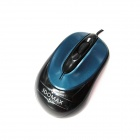 IDOMAX LG-802 Wired 1000DPI USB 2.0 Optical Mouse - Black + Green (137cm-Cable)