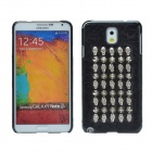 Punk Style Rivet Skulls Protective PU Leather Back Case for Samsung Galaxy Note 3 - Black