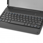 Ultra-Slim Matte Portable Bluetooth V3.0 64-Tast Tastatur m / Deksel for iPad AIR - Svart