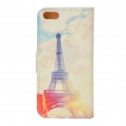 Eiffel Tower Pattern Protective PU Flip Open Case w/ Stand / Card Slots for IPHONE 5 / 5S
