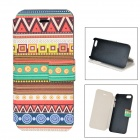 Graphic Pattern Protective Flip Open PU Leather + ABS Case w/ Stand for IPHONE 5 / 5S