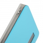 "PO-V5 0.8"" LCD 8000mAh Dual USB Portable Power Source Bank w/ Lighting / TF for Samsung + More -Blue"