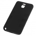 Stylish Protective PC + Silicone Back Case for Samsung Galaxy Note 3 - Black