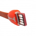 USB 2.0 Male to Micro USB Male Data Sync / Charging Cable w/ TF Card Reader - White + Orange (5cm)