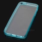 Protective TPU + PC Back Case for IPHONE 5 / 5S - Transparent + Blue