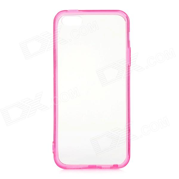 Protective TPU + PC Back Case for IPHONE 5 / 5S - Transparent + Deep Pink protective noctilucent tpu pc back case for iphone 5 red transparent