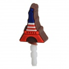 Universal Cute Eiffel Tower Style Ornament Silicone Anti-dust Plug - Red + Blue