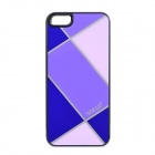 Sokad ES10 Grid Pattern Protective PC + ABS Back Case for IPHONE 5 / 5S - Orchid