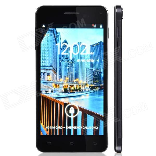 "X3 Android 4.2 WCDMA Quad-core Bar Phone w/ 5.0"" Screen, Wi-Fi, GPS - Iron Grey"