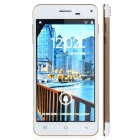 "X3 Android 4.2 WCDMA Quad-core Bar Phone w/ 5.0"" Screen, Wi-Fi, GPS - Golden + White"