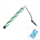 Aluminum Alloy Retractable Touch Screen Stylus Pen for Cellphones + More - Green + Silver