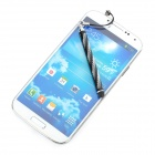 Aluminum Alloy Retractable Touch Screen Stylus Pen for Cellphones + More - Black + Silver