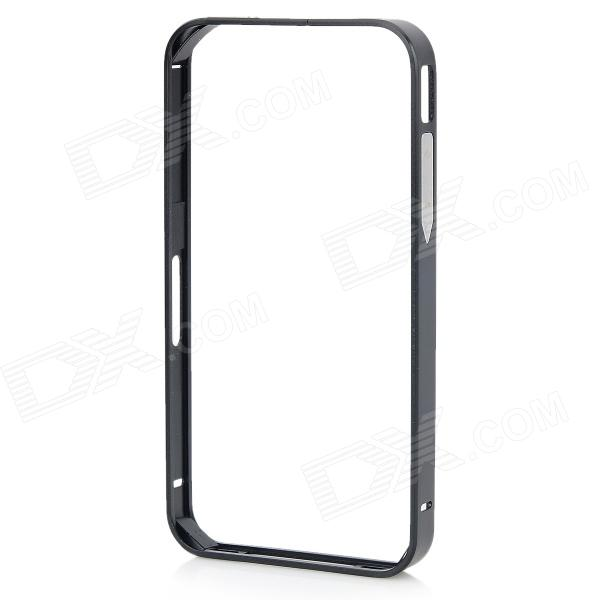 S-What Aluminum Alloy Metal Bumper Case for IPHONE 4 / 4S - Black