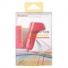 BASEUS Portable F-Type Dual USB Car Charger for IPHONE / IPAD - Deep Pink