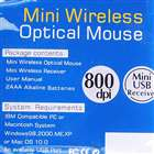 Professional 800DPI 2.4GHz Wireless USB Optical Mouse - Silver (2*AAA)