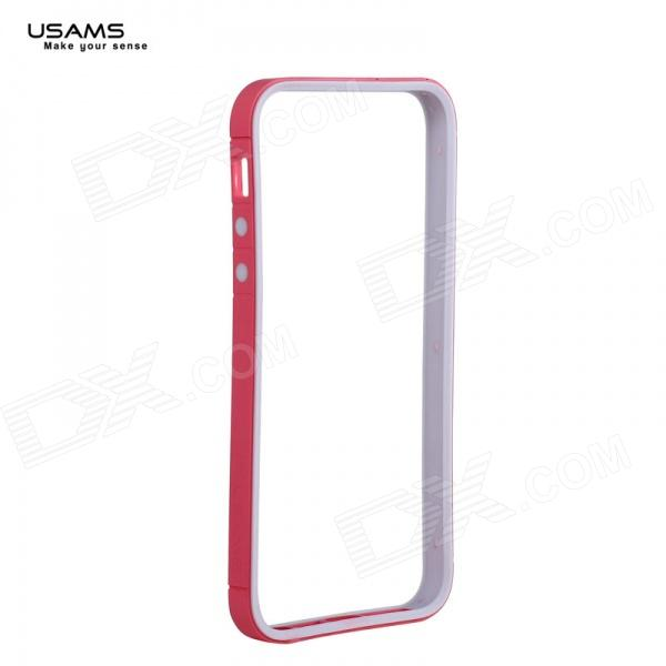 USAMS IP5SCH204 série Rainbow Bumper Case PC + TPU pour IPHONE 5 / 5S - rose