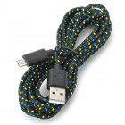 USB to Micro USB Data Nylon Cable for Samsung Galaxy Tab 3 10.1 / P5200 / P5210 - Black (3m)