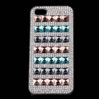 Stylish Protective Shining Rhinestone Plastic Case for IPHONE 5 / 5S - Multicolor