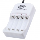BTY N-606 Super Quick lader for batteri AA / AAA-Hvit (EU Plug)