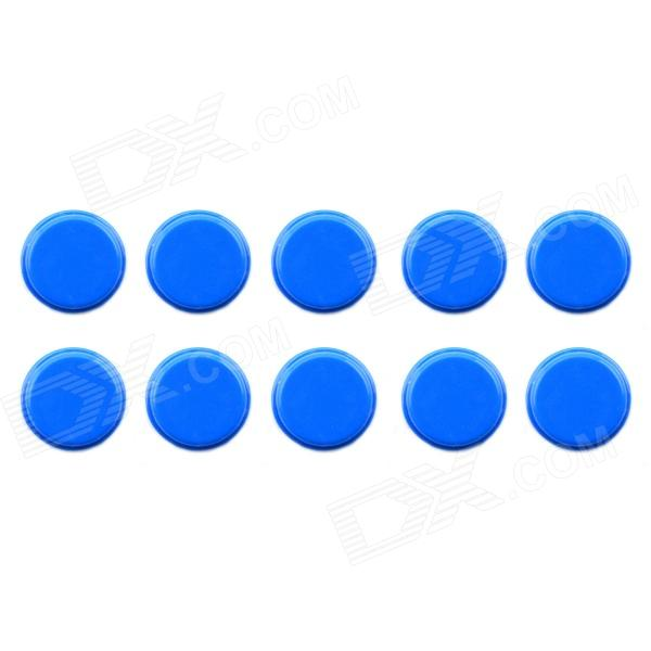 Jtron 20010022 12 x 12mm Tact Switch Round Cap - Blue (10PCS)