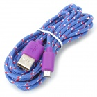 Micro USB Data Nylon Cable for Samsung Galaxy Tab 3 10.1 / P5200 / P5210 / P3200 - Purple (3m)
