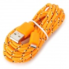 USB to Micro USB Data Cable for Samsung Galaxy Tab 3 10.1 / P5200 / P5210 / P3200 - Orange (3m)