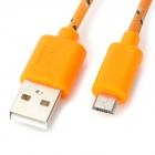 USB al cable de datos micro USB para Samsung Galaxy Tab 10.1 3 / P5200 / P5210 / P3200 - Orange (3m)