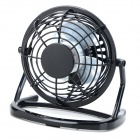 LZZ-111 360 Degree Rotate Mini 4-Blade 1-Mode USB2.0 Fan - Black + White (DC 5V / 110cm)