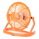 LZZ-111 360 Degree Rotate Mini 4-Blade 1-Mode USB2.0 Fan - Orange + White (DC 5V / 110cm)