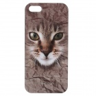 C200006 Animal Series Cute Cat Style Protective Plastic Back Case for IPHONE 5 / 5S - Brown