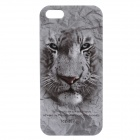 C200002 Animal Series White Tiger Style Protective Plastic Back Case for IPHONE 5 / 5S - Grey