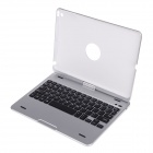 BK-Z66 360 Degree Rotatable Bluetooth V3.0 64-Key Keyboard for IPAD AIR - Silver