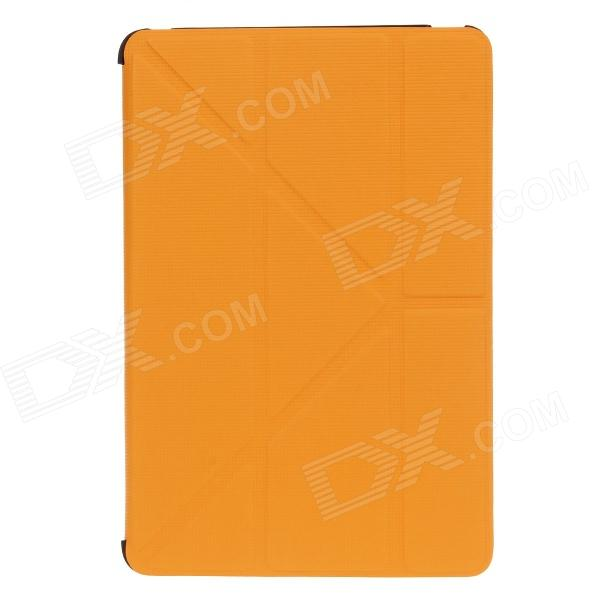 Fashion Protective PU Leather Auto Sleep Case Cover w/ Stand for IPAD MINI 1 / 2 - Orange mr northjoe protective pu leather case w stand auto sleep for ipad mini 1 2 3 dark brown